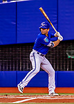 26 March 2018: Toronto Blue Jays infielder Danny Espinosa at bat in the second inning against the St. Louis Cardinals at Olympic Stadium in Montreal, Quebec, Canada. The Cardinals defeated the Blue Jays 5-3 in the first of two MLB pre-season exhibition games in the former home of the Montreal Expos. Mandatory Credit: Ed Wolfstein Photo *** RAW (NEF) Image File Available ***