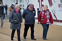 Burnley Fans Arrive during West Ham United vs Burnley, Premier League Football at The London Stadium on 10th March 2018