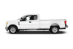Car Driver side profile view of a 2017 Ford F-350 XLT-Super 4 Door Pick-up Side View