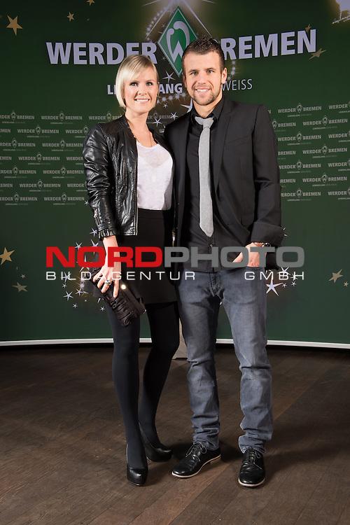 16.12.2013, GOP - Theater, Bremen, Weihnachtsfeier Werder Bremen 2013, im Bild<br /> <br /> Lukas Schmitz,Kathrin Klotz<br /> <br /> Foto &copy; nordphoto / Kokenge