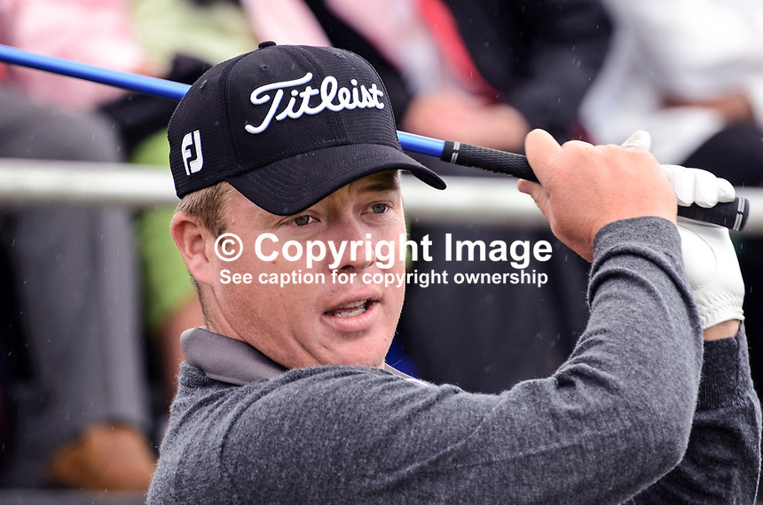George Coetzee, professional golfer, Republic of South Africa, 201206270389..Photo taken 27th June 2012 on the first tee, Pro-Am competition, Irish Open Championship, Royal Portrush Golf Club, N Ireland...© Victor Patterson, 54 Dorchester Park, Belfast, N Ireland. Tel: +44 2890661296; Mobile: +44 7802 353836; Emails: victorpatterson@me.com & victorpatterson@gmail.com; www.victorpatterson.com