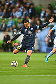 3rd November 2017, Melbourne Rectangular Stadium, Melbourne, Australia; A-League football, Melbourne City FC versus Sydney FC; Bobo of Sydney FC has a shot on goal