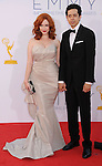 LOS ANGELES, CA - SEPTEMBER 23: Christina Hendricks and Geoffrey Arend arrive at the 64th Primetime Emmy Awards at Nokia Theatre L.A. Live on September 23, 2012 in Los Angeles, California.