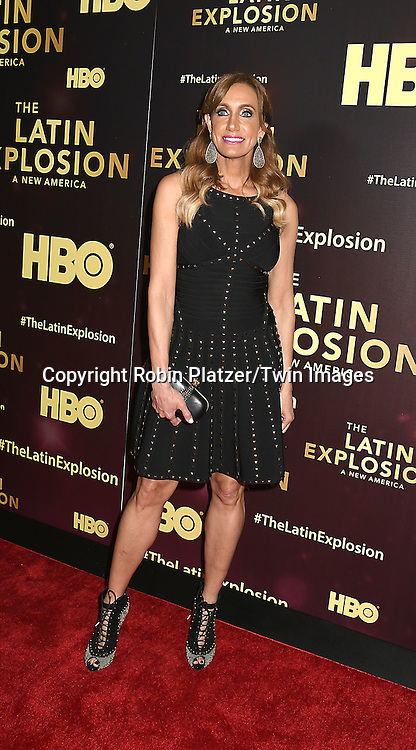 Lili Estefan  attends the HBO premiere of &quot;The Latin Explosion: A New America&quot; on November 10, 2015 at the Hudson Theater in New York City, New York, USA.<br /> <br /> photo by Robin Platzer/Twin Images<br />  <br /> phone number 212-935-0770