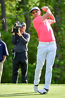 Rickie Fowler (USA) watches his tee shot on 13 during round 1 of the Shell Houston Open, Golf Club of Houston, Houston, Texas, USA. 3/30/2017.<br /> Picture: Golffile | Ken Murray<br /> <br /> <br /> All photo usage must carry mandatory copyright credit (&copy; Golffile | Ken Murray)