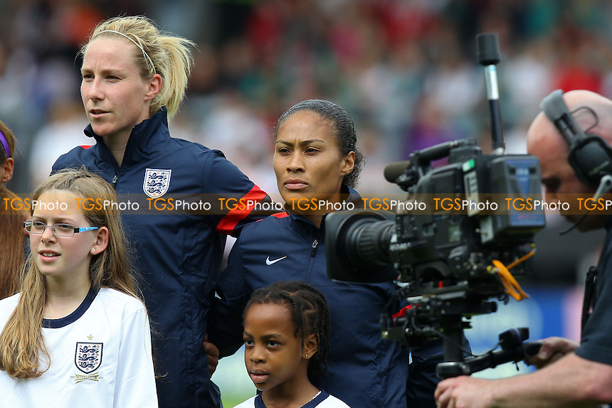England captain Rachel Yankey (C) - England Women vs Japan Women - Friendly Football International at the Pirelli Stadium, Burton Albion FC - 26/06/13 - MANDATORY CREDIT: Gavin Ellis/TGSPHOTO - Self billing applies where appropriate - 0845 094 6026 - contact@tgsphoto.co.uk - NO UNPAID USE