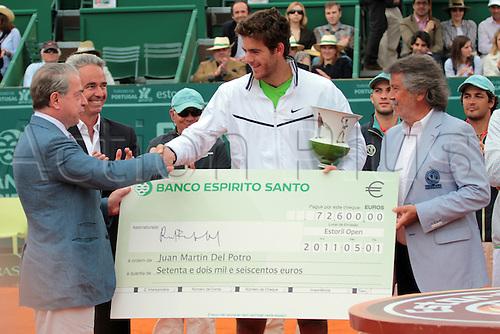 01.05.2011 Estoril Open Portugal ATP Mens Singles Final...Juan Martin DEL POTRO, from argentina, wins the Estorl Open 2011 ATP, by 6-2 and 6-2 to Fernando VERDASCO from Spain.