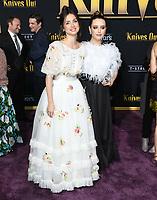 "14 November 2019 - Westwood, California - Ana De Armas, Katherine Langford. ""Knives Out"" Los Angeles Premiere held at Regency Village Theater. Photo Credit: Birdie Thompson/AdMedia"