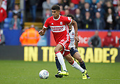 9th September 2017, Macron Stadium, Bolton, England; EFL Championship football, Bolton Wanderers versus Middlesbrough; Ashley Fletcher of Middlesbrough on the ball