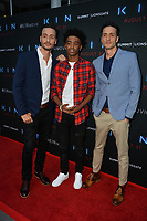 "LOS ANGELES, CA. August 29, 2018: Myles Truitt, Jonathan Baker & Josh Baker at the premiere of ""KIN"" at the Arclight Theatre, Hollywood."