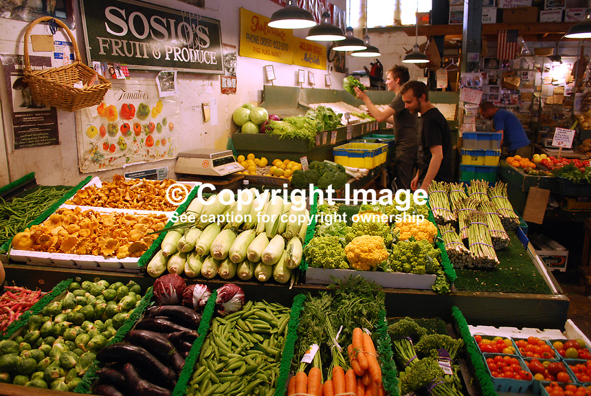 Vegetable stall, Pike Place Market, Seattle, Washington State, USA, 200809131451..Copyright Image from Victor Patterson, 54 Dorchester Park, Belfast, UK, BT9 6RJ..Tel: +44 28 9066 1296.Mob: +44 7802 353836.Voicemail +44 20 8816 7153.Skype: victorpattersonbelfast.Email: victorpatterson@mac.com.Email: victorpatterson@ireland.com (back-up)..IMPORTANT: If you wish to use this image or any other of my images please go to www.victorpatterson.com and click on the Terms & Conditions. Then contact me by email or phone with the reference number(s) of the image(s) concerned.