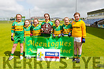 Meentogues NS winners of the 2 Teacher Schools Final at the Allianz Cumann na mBunscol Girls Final at Austin Stacks Park on Tuesday Pictured Mary McCarthy, Michelle Fleming, Gemma Cremins, Delia Foley, Denielle O'Leary, Lauren Fears, Shauna Fears
