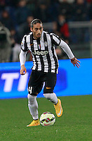 Jose Martin Caceres  during the Italian Serie A soccer match between   AS Roma and Juventus FC       at Olympic Stadium      in Rome ,March 02 , 2015