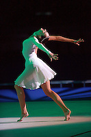 Olga Kapranova of Russia performs solo gala exhibition at 2008 European Championships at Torino, Italy on June 7, 2008.  Photo by Tom Theobald.
