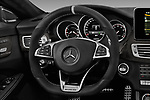 Car pictures of steering wheel view of a 2017 Mercedes Benz CLS-Class AMG-CLS63-4MATIC 4 Door Sedan Steering Wheel