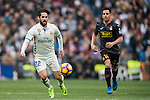 Isco Alarcon of Real Madrid fights for the ball with Jose Manuel Jurado Marin of RCD Espanyol during the match Real Madrid vs RCD Espanyol, a La Liga match at the Santiago Bernabeu Stadium on 18 February 2017 in Madrid, Spain. Photo by Diego Gonzalez Souto / Power Sport Images
