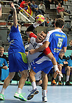 21.01.2013 Barcelona, Spain. IHF men's world championship, Eighth Final. Picture show Mohamed Mandouh  in action during game slovenia vs Egypt at Palau St Jordi