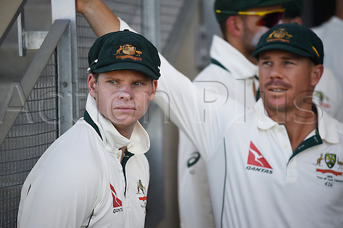 20.02.2016. Christchurch, New Zealand.  Australian captain Steve Smith. New Zealand Black Caps versus Australia. Day 1, 2nd test match, Hagley Oval in Christchurch, New Zealand. Saturday 20 February 2016.