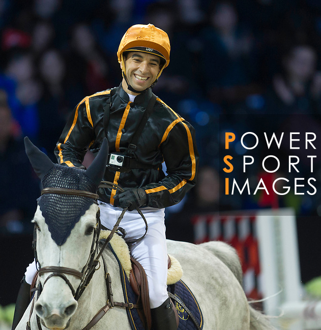 Joao Moreina during the HKJC Race of the Rider during the Longines Masters of Hong Kong on 19 February 2016 at the Asia World Expo in Hong Kong, China. Photo by Juan Manuel Serrano / Power Sport Images