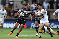 Zach Kibirige of Newcastle Falcons. Premiership Rugby 7s (Day 2) on July 28, 2018 at Franklin's Gardens in Northampton, England. Photo by: Patrick Khachfe / Onside Images