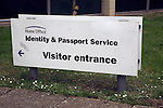 Home Office Identity and passport service visitor entrance sign, Norwich, England