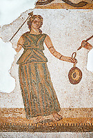 Roman mosaic celebrating the wedding of the God Dionysus to Ariadene. Late 3rd century AD, Thurbo Majus. Roman mosaics from the north African Roman province of Africanus . The Thurbo Majus Room, Bardo Museum, Tunis, Tunisia.