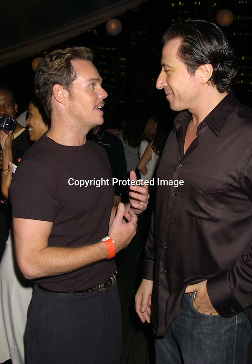 Kevin Dillon and Federico Castellucio ..at the Hanes Perfect T Party hosted by Kevin Dillon on August 16, 2005 at The South Street Seaport onboard The Peking. ..Photo by Robin Platzer, Twin Images
