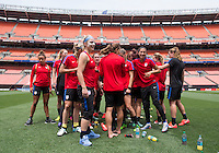 Cleveland, OH - June 4, 2016: The USWNT trains in preparation for their friendly against Japan at FirstEnergy Stadium.