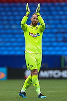 Bolton Wanderers' Ben Alnwick applauds the home fans at the end of the match<br /> <br /> Photographer Andrew Kearns/CameraSport<br /> <br /> The EFL Sky Bet Championship - Bolton Wanderers v Bristol City - Saturday August 11th 2018 - University of Bolton Stadium - Bolton<br /> <br /> World Copyright &copy; 2018 CameraSport. All rights reserved. 43 Linden Ave. Countesthorpe. Leicester. England. LE8 5PG - Tel: +44 (0) 116 277 4147 - admin@camerasport.com - www.camerasport.com