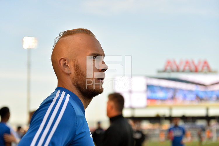 San Jose, CA - Saturday April 14, 2018: Magnus Eriksson prior to a Major League Soccer (MLS) match between the San Jose Earthquakes and the Houston Dynamo at Avaya Stadium.