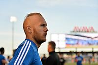 San Jose, CA - Saturday April 14, 2018: Magnus Eriksson prior to a Major League Soccer (MLS) match between the San Jose Earthquakes and the Houston Dynamo at Avaya Stadium.