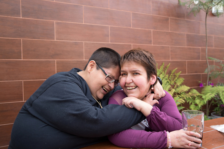 Lupita embraces her boyfriend Jorge during a family lunch to celebrate his 34th birthday at her home in Mexico City, Mexico on March 31, 2017. Maria Guadalupe Pilar Saucedo Granda, 43, and Jorge Antonio Moreno Gaytán, 34, both diagnosed with Prader-Willi syndrome, have been in a relationship for 11 years. They met at an annual meeting organized by the Mexican Prader-Willi Association Fundación María José in Pachuca, Mexico. They call each other daily but only see each other three to four times a year. They dream about getting married one day. Prader-Willi Syndrome (PWS) is a rare genetic disorder caused by an abnormality in chromosome 15. In newborns symptoms include weak muscle tone (hypotonia), poor appetite and slow development. In childhood the person experiences a sensation of constant hunger no matter how much he/she eats which often leads to obesity and Type 2 diabetes. There may also be mild to moderate intellectual impairment and behavioral problems. Physical characteristics include a narrow forehead, small hands and feet, short in stature, and light skin color. Prader-Willi syndrome has no known cure. However, with early diagnosis and treatment such as growth hormone therapy, the condition may improve. Strict food supervision is typically required. PWS affects an estimated 1 in 10,000 to 30,000 people worldwide. (Photo by Bénédicte Desrus)
