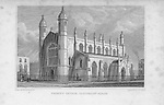 Trinity Church, Cloudesley Square, engraving from 'Metropolitan Improvements, or London in the Nineteenth Century' London, England, UK 1828