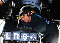 Feb 4, 2016; Chandler, AZ, USA; NHRA funny car team owner Tim Wilkerson during pre season testing at Wild Horse Pass Motorsports Park. Mandatory Credit: Mark J. Rebilas-USA TODAY Sports