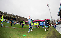 The Wycombe players warm up ahead of the Sky Bet League 2 match between Wycombe Wanderers and Crawley Town at Adams Park, High Wycombe, England on 25 February 2017. Photo by Andy Rowland / PRiME Media Images.