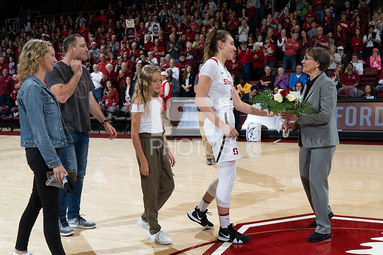 Stanford, Ca - Febrauary 24, 2019: The Stanford Cardinal closes the 2018-2019 season with a 71-50 win over the Arizona State Sun Devils at Maples Pavilion.