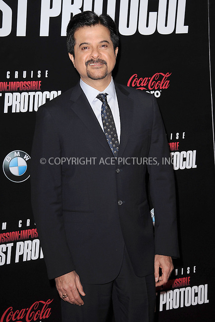 WWW.ACEPIXS.COM . . . . . December 19, 2011...New York City....Anil Kapoor attends the 'Mission: Impossible - Ghost Protocol' U.S. premiere at the Ziegfeld Theatre on December 19, 2011 in New York City....Please byline: KRISTIN CALLAHAN - ACEPIXS.COM.. . . . . . ..Ace Pictures, Inc: ..tel: (212) 243 8787 or (646) 769 0430..e-mail: info@acepixs.com..web: http://www.acepixs.com .