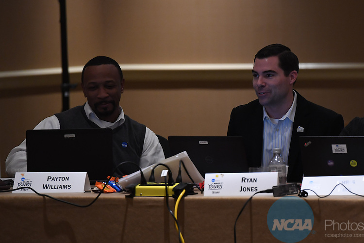 17 JAN 2017:  The NCAA Division II SAAC meeting takes place during the 2017 NCAA Convention takes place at the Gaylord Opryland Resort & Convention Center in Nashville, TN. Justin Tafoya/NCAA Photos (Pictured: Ryan Jones and Payton Williams)
