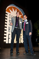 High School Athlete of the year Aaron Gordon with Robert Braunstein at the San Jose Sports Hall of Fame induction ceremony at the HP Pavilion on Nov. 14, 2012.