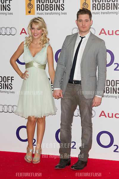 Michael Buble arriving for the Silver Clef Awards, Hilton Hotel, Park Lane, London. .29/06/2012 Picture by: Simon Burchell / Featureflash