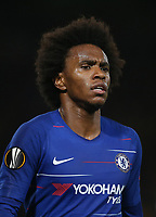 Chelsea's Willian<br /> <br /> Photographer Rob Newell/CameraSport<br /> <br /> UEFA Europa League - Group L - Chelsea v MOL Vidi - Thursday 4th October 2018 - Stamford Bridge - London<br />  <br /> World Copyright © 2018 CameraSport. All rights reserved. 43 Linden Ave. Countesthorpe. Leicester. England. LE8 5PG - Tel: +44 (0) 116 277 4147 - admin@camerasport.com - www.camerasport.com