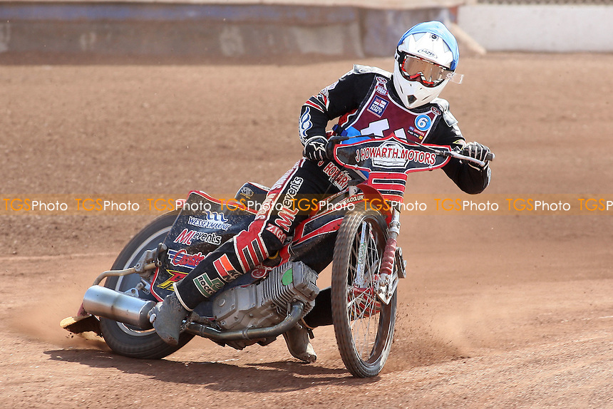 Heat 6: Kyle Howarth of Lakeside - Lakeside Hammers vs Eastbourne Eagles - Sky Sports Elite League Speedway at Arena Essex Raceway, Purfleet - 06/04/12 - MANDATORY CREDIT: Gavin Ellis/TGSPHOTO - Self billing applies where appropriate - 0845 094 6026 - contact@tgsphoto.co.uk - NO UNPAID USE.