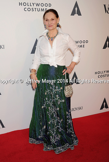 LOS ANGELES, CA- OCTOBER 01: Costume designer Beth Grant attends The Academy of Motion Picture Arts and Sciences' Hollywood Costume Opening Party at the Wilshire May Company Building on October 1, 2014 in Los Angeles, California.