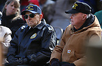 Pearl Harbor survivors Del Schwichtenberg, left, and Robert Lloyd participate in the Pearl Harbor 75th Commemoration at the U.S.S. Nevada memorial at the Capitol in Carson City, Nev. on Wednesday, Dec. 7, 2016. <br /> Photo by Cathleen Allison/Nevada Photo Source