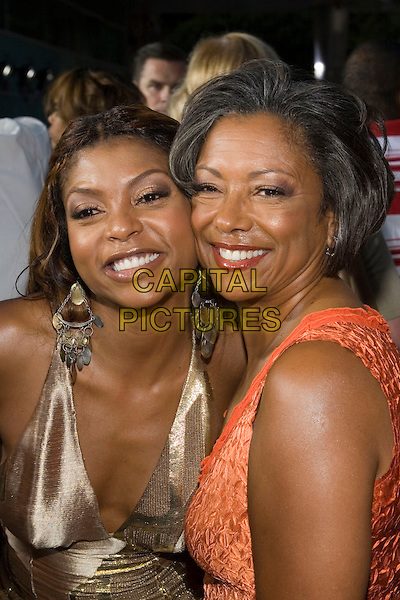 """TARAJI HENSON & MOTHER.At the """"Hustle & Flow"""" Los Angeles Film Premiere,.held at the Arclight Cinerama Dome, .Hollywood, California, USA, 20th July 2005..portrait headshot family daughter mom mum.Ref: ADM.www.capitalpictures.com.sales@capitalpictures.com.©Zach Lipp/AdMedia/Capital Pictures."""