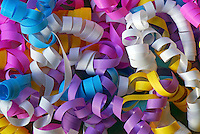 USA, Pastel colored curling ribbon.