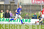 Kieran Donaghy Kerry in action against Donal Vaughan Mayo in the National Football League in Austin Stack Park on Sunday..