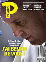 Pelerin France Magazine Pope Francis .<br /> Photograph by Stefano Spaziani.