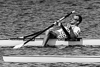 Sarasota. Florida USA. Men's Single Sculls. CRO M1X Damir MARTIN Sunday Final's Day at the  2017 World Rowing Championships, Nathan Benderson Park<br /> <br /> Sunday  01.10.17   <br /> <br /> [Mandatory Credit. Peter SPURRIER/Intersport Images].<br /> <br /> <br /> NIKON CORPORATION -  NIKON D4S  lens  VR 500mm f/4G IF-ED mm. 200 ISO 1/640/sec. f 8