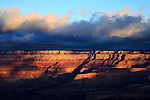 Dramatic And Ominous Early Morning Light Over Grand Canyon National Park, Arizona, USA, East Rim View